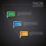 Vector Infographic diagonal timeline report template Royalty Free Stock Images