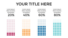 Vector infographic, diagram chart, graph presentation. Business template with 4 options, parts, steps, processes. 16x9 Royalty Free Stock Image
