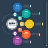 Vector infographic dinamico del processo di istruzione o della tecnologia B Immagini Stock