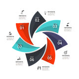 Vector infographic element. Royalty Free Stock Photo