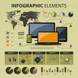 Vector infographic elementen Stock Foto's