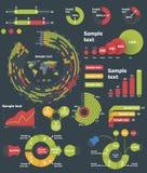 Vector infographic elementen Stock Afbeelding