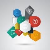 Vector infographic elementen royalty-vrije illustratie