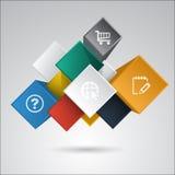 Vector infographic elementen Stock Fotografie