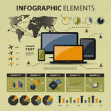Vector infographic elements. Vector set of various infographic elements - illustration in freely scalable and editable vector format Stock Photos