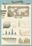 Vector infographic elements Stock Photography