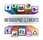Vector infographic elements with integrated business icons. Infographic concept. Vector infographic elements with integrated business icons for development Stock Photo