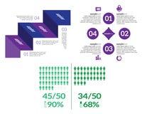 Vector infographic elements set Stock Photos