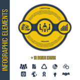 Vector infographic elements template with integrated icons Royalty Free Stock Photos