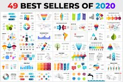 49 Best-Selling Vector Infographics of 2020. Presentation slide templates. Circle diagram charts. Arrows timelines. Maps