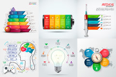Vector infographic elements. stock illustration