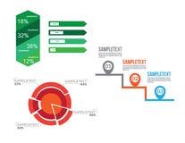 Vector infographic geplaatste elementen stock illustratie