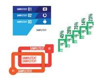 Vector infographic geplaatste elementen vector illustratie