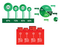 Vector infographic geplaatste elementen royalty-vrije illustratie