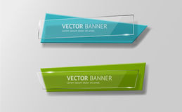 Vector infographic geplaatste origamibanners vector illustratie
