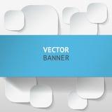 Vector infographic geplaatste origamibanners Stock Fotografie