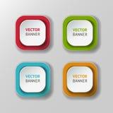 Vector infographic geplaatste origamibanners Royalty-vrije Stock Foto's