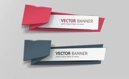Vector infographic geplaatste origamibanners royalty-vrije stock fotografie
