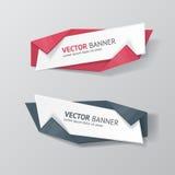 Vector infographic geplaatste origamibanners royalty-vrije illustratie