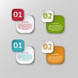 Vector infographic geplaatste origamibanners Stock Foto's