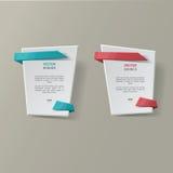 Vector infographic geplaatste origamibanners stock afbeeldingen