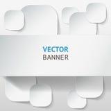 Vector infographic geplaatste origamibanners Stock Afbeelding
