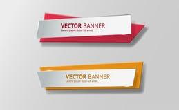 Vector infographic geplaatste origamibanners Royalty-vrije Stock Afbeeldingen
