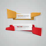 Vector infographic geplaatste origamibanners stock illustratie