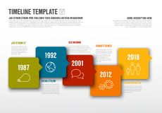 Vector Infographic horizontal timeline template Royalty Free Stock Images