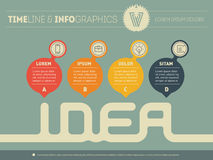 Vector infographic - how to come up with the idea for the busine Royalty Free Stock Photography