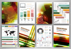 Vector infographic icons and abstract backgrounds Stock Images