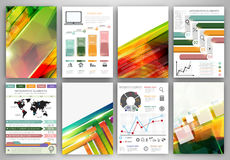 Vector infographic icons and abstract backgrounds Royalty Free Stock Photos