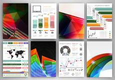 Vector infographic icons and abstract backgrounds Stock Photography