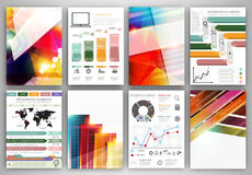 Vector infographic icons and bright abstract backgrounds Royalty Free Stock Photography