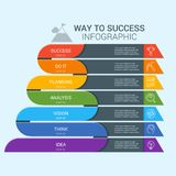 Vector infographic illustration 8 Royalty Free Stock Image