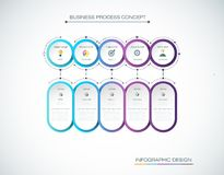 Vector Infographic label design with icons and 5 options or steps. Infographics for business concept. Can be used for presentations banner, workflow layout Royalty Free Stock Image