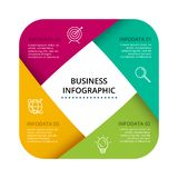Vector Infographic label design with icons and 4 options or steps. Infographics for business concept for presentations stock illustration