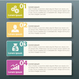 Vector Infographic label template design Royalty Free Stock Photo