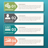 Vector Infographic label template design Royalty Free Stock Images