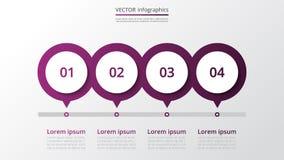 Vector infographic malplaatje Royalty-vrije Stock Afbeelding
