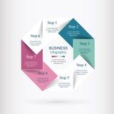 Vector infographic malplaatje Royalty-vrije Stock Fotografie
