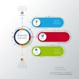 Vector infographic malplaatje met 3D document etiket, geïntegreerde cirkels Bedrijfsconcept met opties royalty-vrije illustratie