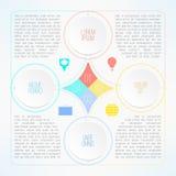 Vector infographic malplaatje met geschikte cirkels Stock Foto's