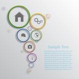 Vector infographic ontwerp als achtergrond Stock Foto's