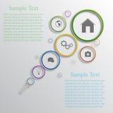 Vector infographic ontwerp als achtergrond Royalty-vrije Stock Foto