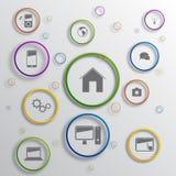 Vector infographic ontwerp als achtergrond Stock Foto