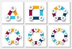 Vector infographic ontwerpmalplaatje Stock Fotografie
