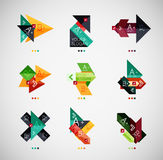 Vector infographic option banner design collection Stock Images
