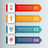 Vector infographic options banner with 4 arrows Royalty Free Stock Images