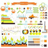 Vector infographic. orange-green 03 Stock Photo